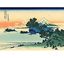 'Shichiri Beach in Sagami Province' by Katsushika Hokusai (Reproduction) Photographic Print