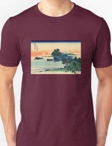 'Shichiri Beach in Sagami Province' by Katsushika Hokusai (Reproduction) Unisex T-Shirt