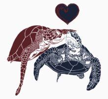 Turtles in Love One Piece - Short Sleeve