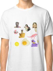 Random Collage Kurt Cobain Egg Dinosaur Classic T-Shirt
