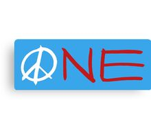 ONE peace sign Canvas Print