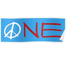 ONE peace sign Poster
