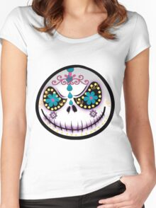 Sugar Skull Jack Women's Fitted Scoop T-Shirt
