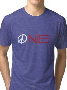 ONE peace sign Tri-blend T-Shirt