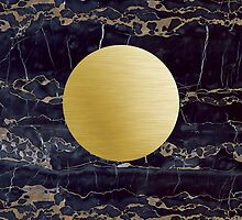 Gold and black granite by mikath