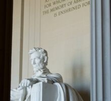 Abraham Lincoln Memorial Sticker