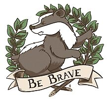 Be Brave Badger Crest Photographic Print