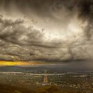 Angry sky over Canberra by Anthony Caffery