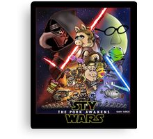The Pork Awakens Canvas Print