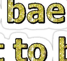 to bae or not to bae Sticker