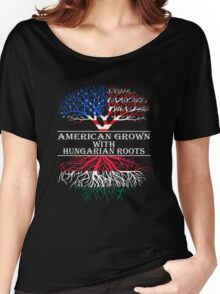 American Grown With Hungarian Roots Women's Relaxed Fit T-Shirt