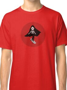 A girl walks home alone at night. Classic T-Shirt