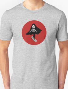 A girl walks home alone at night. Unisex T-Shirt