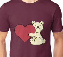 Valentine's Day Kermode Bear with Red Heart Unisex T-Shirt