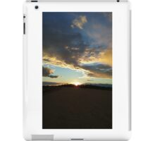 Sunset Clouds Over Dyke 8 iPad Case/Skin