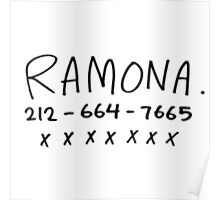Ramona's Number Poster