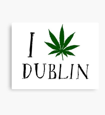 Dublin Ireland Weed Canvas Print