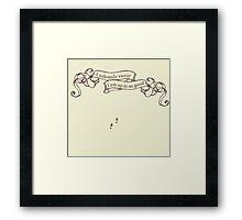 Magic Map Framed Print