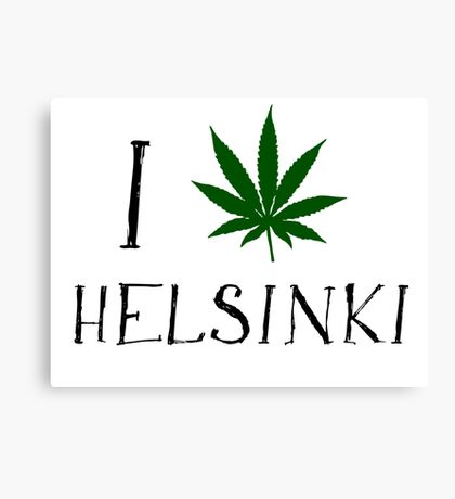 Finland Helsinki Weed Canvas Print