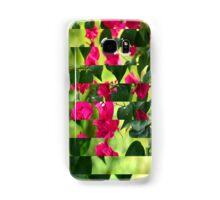 Pink Ribbon of Flowers Samsung Galaxy Case/Skin