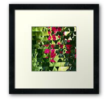 Pink Ribbon of Flowers Framed Print