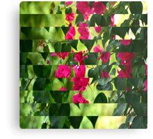 Pink Ribbon of Flowers Metal Print