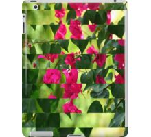 Pink Ribbon of Flowers iPad Case/Skin