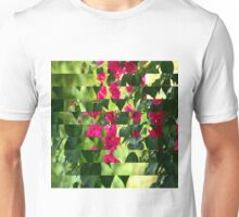 Pink Ribbon of Flowers Unisex T-Shirt