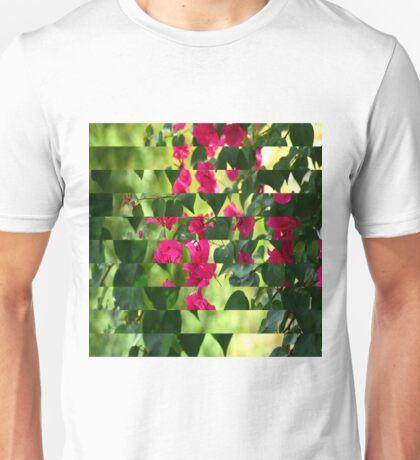 Pink Ribbon of Flowers Unisex T-Shirt