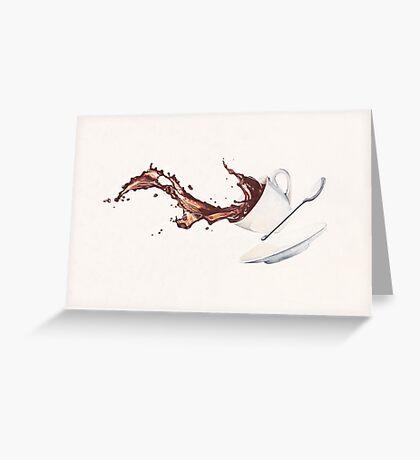 Coffee Splash Greeting Card