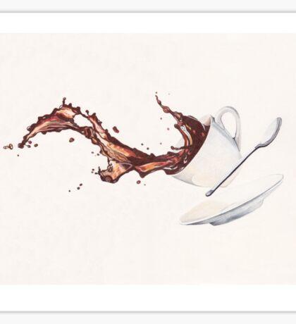 Coffee Splash Sticker