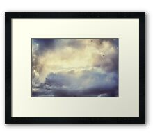 Dramatic Sky with storm clouds in Bermuda  Framed Print