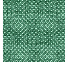 Green Mermaid Scales Photographic Print