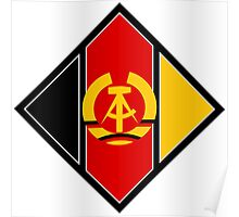 Emblem of aircraft of NVA (East Germany) Poster