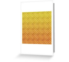 Mermaid Scales in Sunset Flames Greeting Card