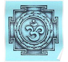 Ohm Yantra - blue Poster