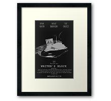 Writer's Block Poster Framed Print