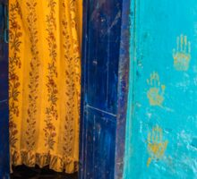 Yellow Curtain Sticker