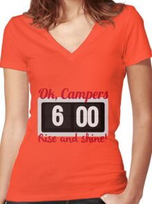 Ok, Campers. Women's Fitted V-Neck T-Shirt