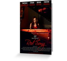 Red Song Poster Greeting Card
