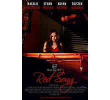 Red Song Poster Photographic Print