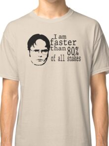 I Am Faster Than 80% Of All Snakes Classic T-Shirt