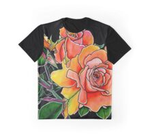 Summer Scent ~ Apricot Roses Graphic T-Shirt