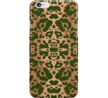Modern Abstract Animal Print Damask Pattern iPhone Case/Skin