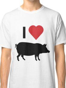 I love heart pork Classic T-Shirt