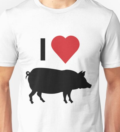 I love heart pork Unisex T-Shirt
