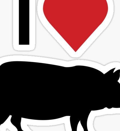 I love heart pork Sticker
