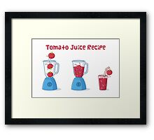 Tomato Juice Recipe Framed Print