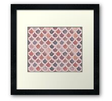 Watercolor Mermaid Scales - Sunset Framed Print