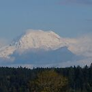 Snow capped Mt. Rainier by Rainydayphotos